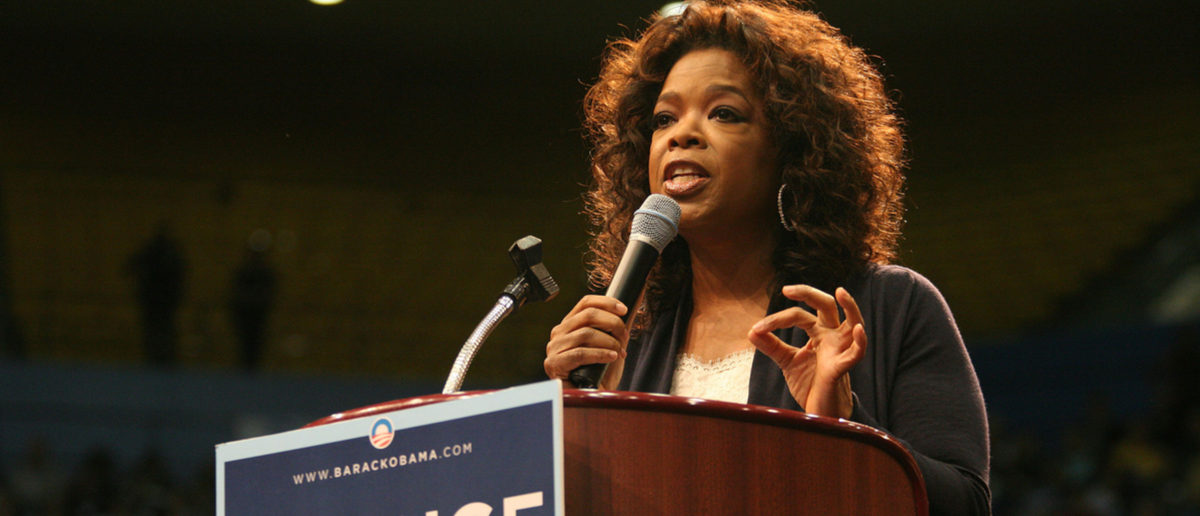 Los Angeles, California, USA; Feb 03, 2008; Oprah Winfrey campaigns for Democratic Presidential candidate Barack Obama at UCLA in Los Angeles, California. Shutterstock/ Krista Kennell