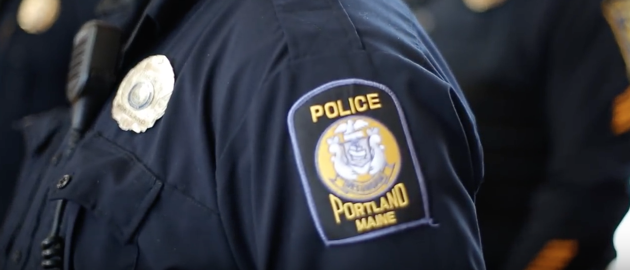 Here is a photo of a Portland Police officer badge. (Youtube Screenshot/Portland Press Herald)