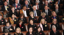 Many Democrats look dazed and confused listening to the president speak. (Photo credit: REUTERS/Jonathan Ernst)