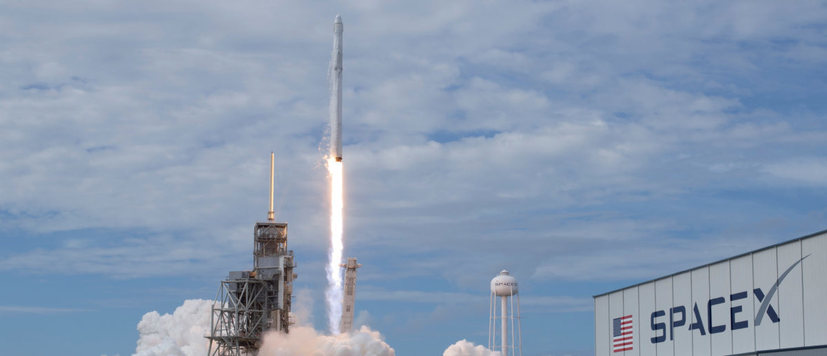 The SpaceX Falcon 9 rocket, with the Dragon spacecraft onboard, carrying almost 6,000 pounds of science research, crew supplies and hardware to the International Space Station, launches from pad 39A at NASA's Kennedy Space Center in Cape Canaveral, Florida, U.S., June 3, 2017. Photo taken June 3, 2017. NASA/Bill Ingalls/Handout via REUTERS
