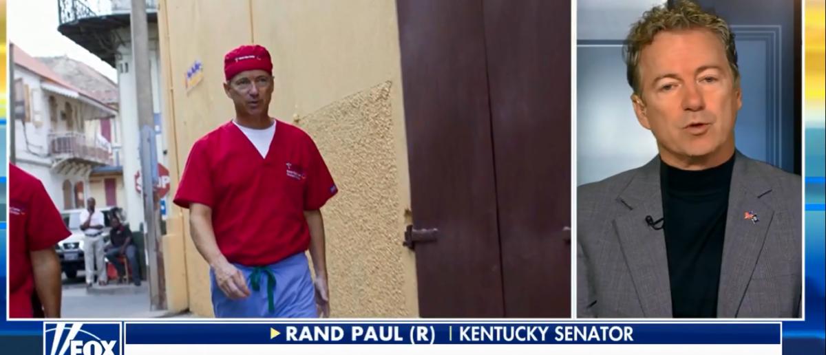 "Rand Paul was interviewed on ""Fox and Friends"" 1-15-. (Photo: Screenshot/Fox News)"