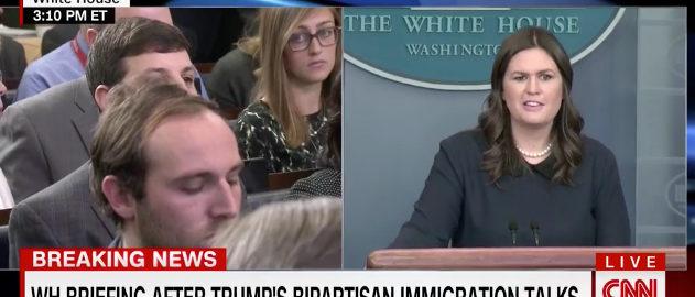Sanders CNN screenshot