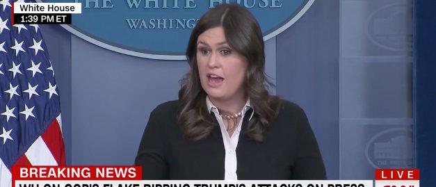 Sarah Sanders CNN screenshot