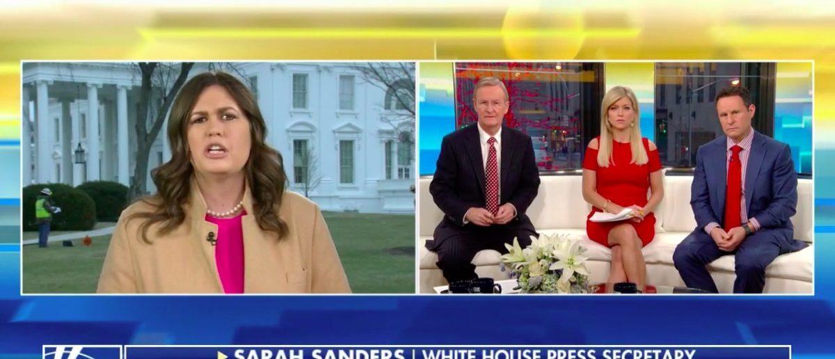 Screen Shot Sarah Sanders (Fox News: Jan 16, 2018)