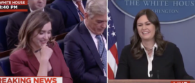 Reporter Asks About The 'Fake News Awards' Sarah Sanders Drops A Bomb On The Whole Room