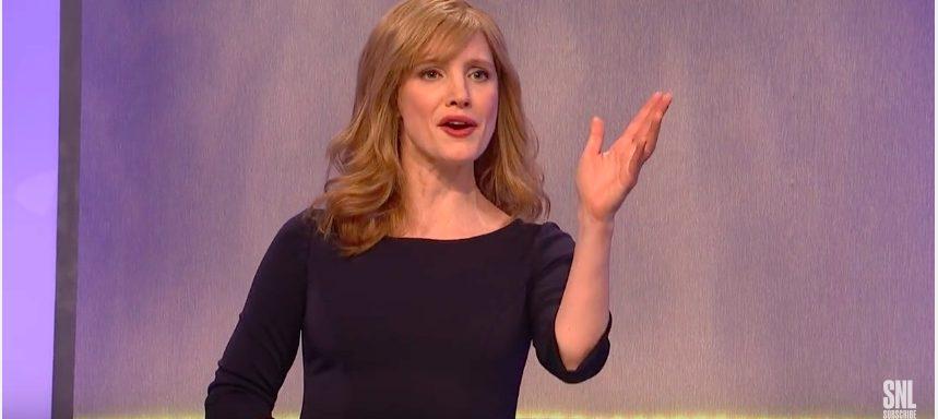"""Jessica Chastain """"Saturday Night Live"""" (Photo: YouTube Screenshot)"""