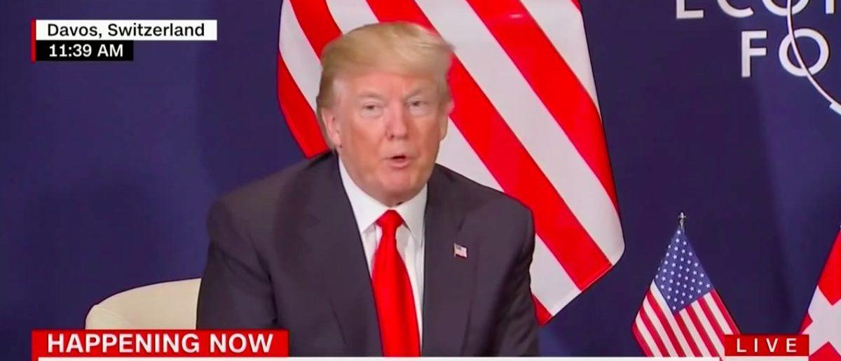 Screen Shot Donald Trump (CNN: Jan 26, 2018)