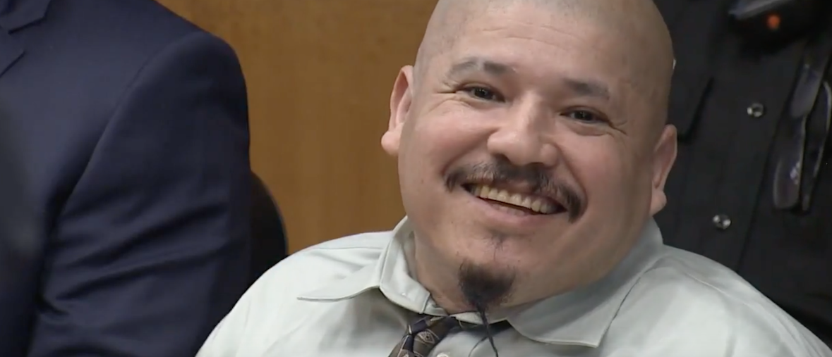 Screen An illegal immigrant charged with murdering two California sheriff's deputies in 2014 began trial Tuesday by interrupting the court room with a horrific rant. (Photo: Shot/Youtube/Accused Cop Killer In Court/ABC10)