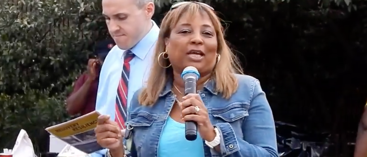 New York Assembly woman Pamela Harris, 57, from Brooklyn, was charged with wire fraud, conspiracy to commit wire fraud, making false statements, bankruptcy fraud, witness tampering and conspiracy to obstruct justice. (Photo: Screen Shot/Youtube/Assembly woman Pamela Harris Speaking)