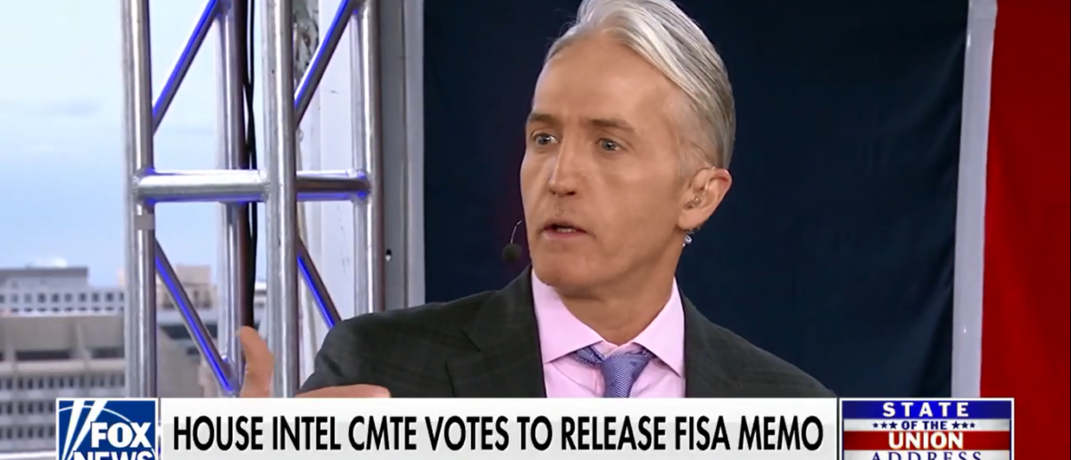 Trey Gowdy Calls Out Dems On FISA Memo - Fox & Friends 1-30-18