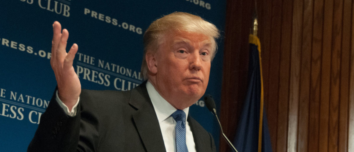 Donald Trump is at National Press Club in 2014. (Photo: ShutterStock/Albert H. Teich)
