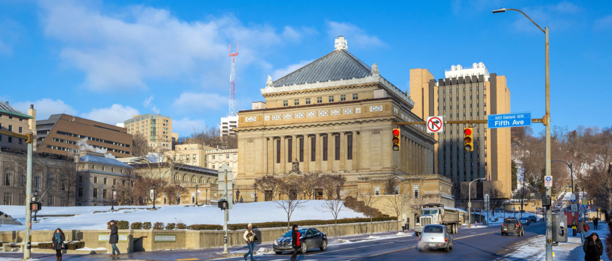 Blue skies greet the University of Pittsburgh. (Shutterstock/f11photo)