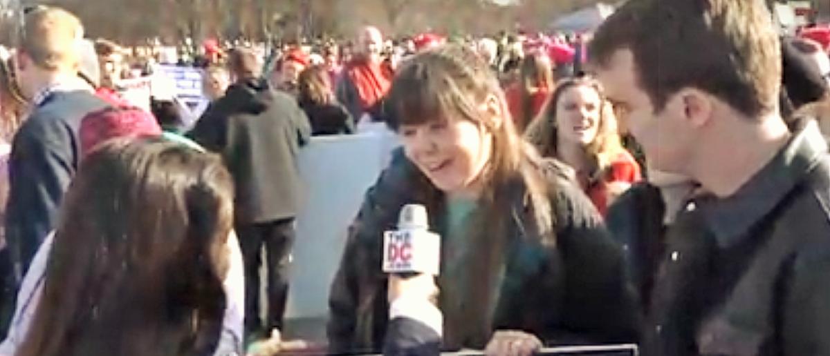 Women's March vs. Pro Lifers/DCNF Youtube Screenshot