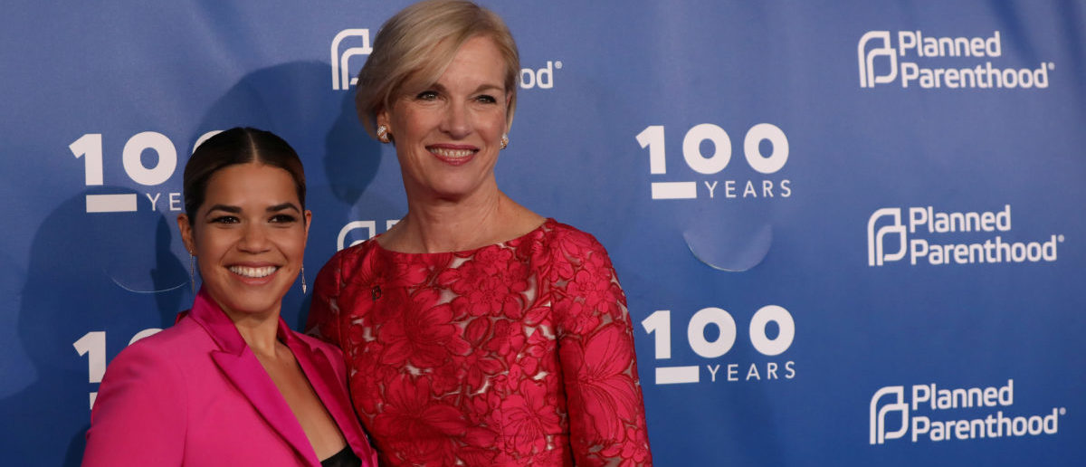 Actress America Ferrera and Cecile Richards, president of Planned Parenthood Federation of America, pose before the Planned Parenthood 100 Years Gala in New York,U.S., May 2, 2017. REUTERS/Shannon Stapleton