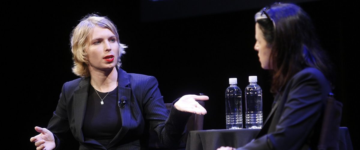 Chelsea Manning and Larissa MacFarquhar attend The 2017 New Yorker Festival - Chelsea Manning Talks With The New Yorker's Larissa MacFarquhar  on September 8, 2017 in New York City. Thos Robinson/Getty Images for The New Yorker.