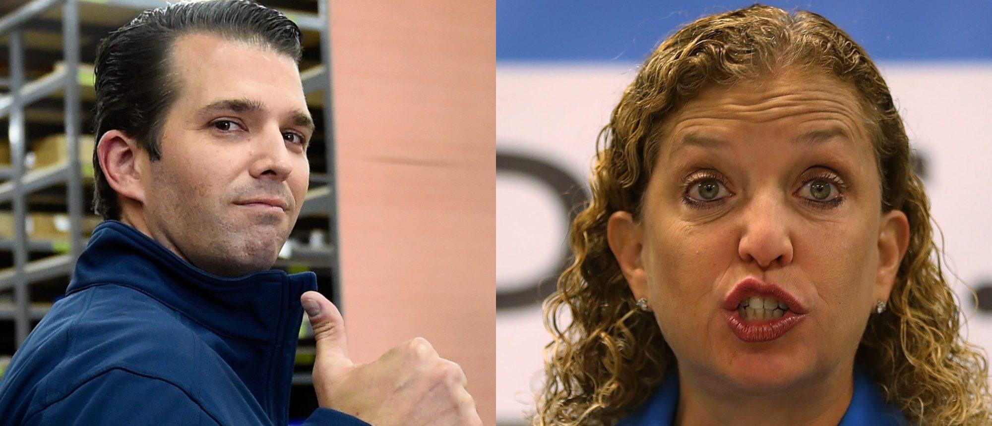 Donald Trump Jr, Debbie Waserman Schultz (Getty Images)