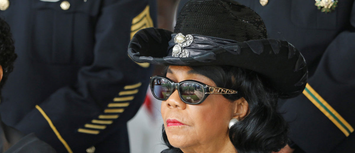 U.S. Rep. Frederica Wilson (D-FL) attends the graveside service for U.S. Army Sergeant La David Johnson, who was among four special forces soldiers killed in Niger, in Hollywood, Florida, October 21, 2017.  REUTERS/Joe Skipper