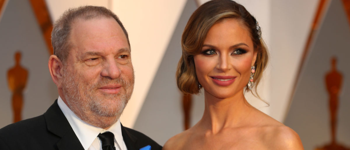 Harvey Weinstein and wife Georgina Chapman ararrive at the 89th Academy Awards in Hollywood, California, U.S. February 26, 2017. Picture taken February 26, 2017. REUTERS/Mike Blake