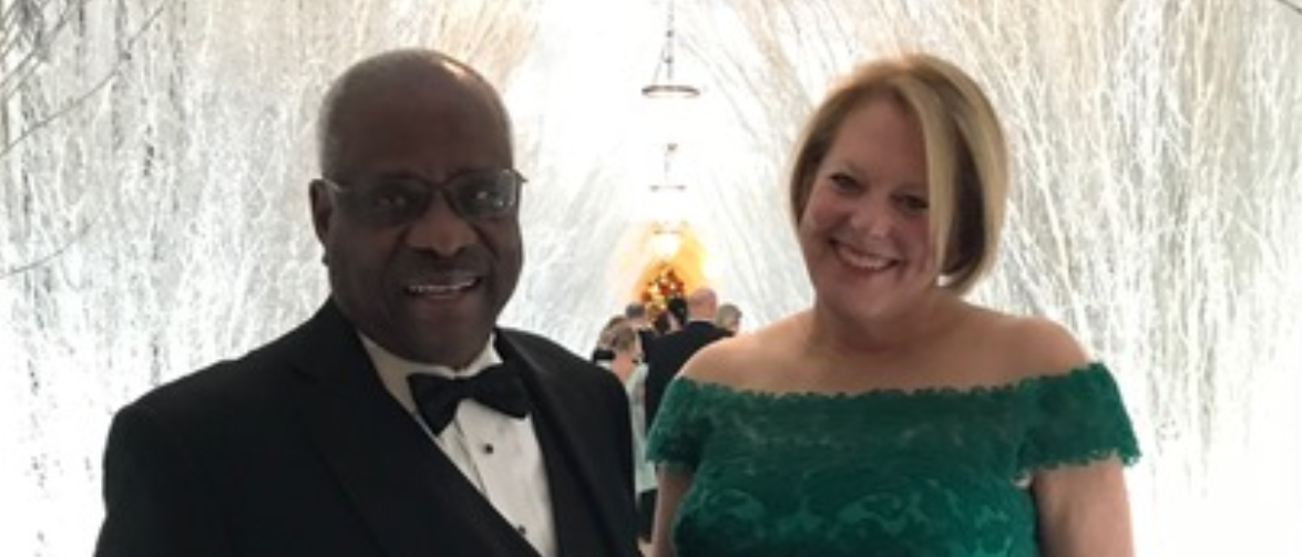 Justice Clarence Thomas with his wife Ginni Thomas (Photo: Courtesy of Ginni Thomas)