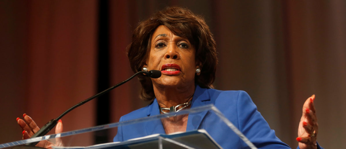 Congresswoman Maxine Waters addresses the audience at the 'Ain't I a Woman?' Sojourner Truth lunch, during the three-day Women's Convention at Cobo Center in Detroit, Michigan, U.S., October 28, 2017. REUTERS/Rebecca Cook