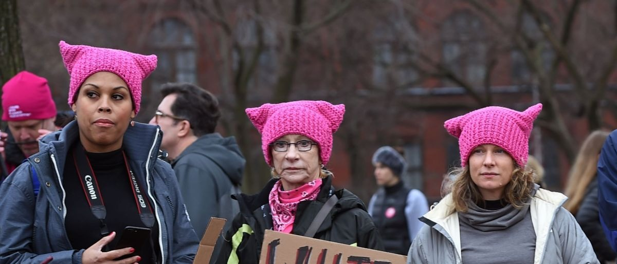 pink hats womens march Washington DC AFP/Getty Images/Robyn Beck