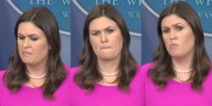 Sarah Sanders Chokes Up At The Press Podium – When You Hear The Reason Why, You Might Too
