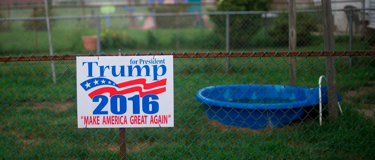 rural small town Trump sign Getty Images/Mark Makela