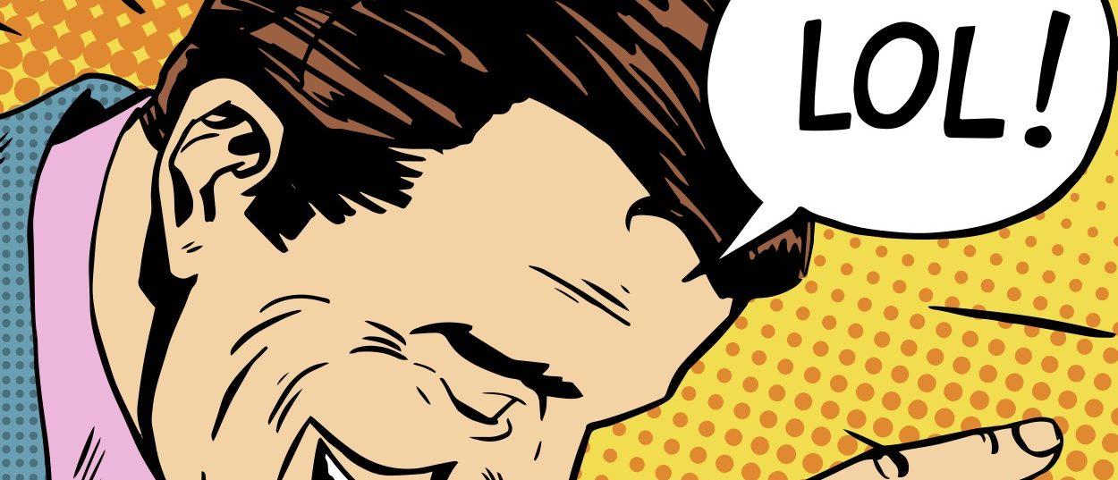 Laughing comic (Photo: Shutterstock)