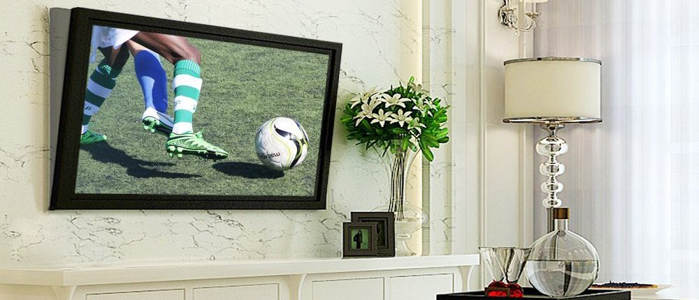 I wish this TV was playing something other than soccer (Photo via Amazon)