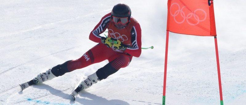 Alpine Skiing – Pyeongchang 2018 Winter Olympics –Men's Downhill Training – Jeongseon Alpine Centre - Pyeongchang, South Korea – February 9, 2018 - Manuel Osborne-Paradis of Canada trains. REUTERS/Stefano Rellandini