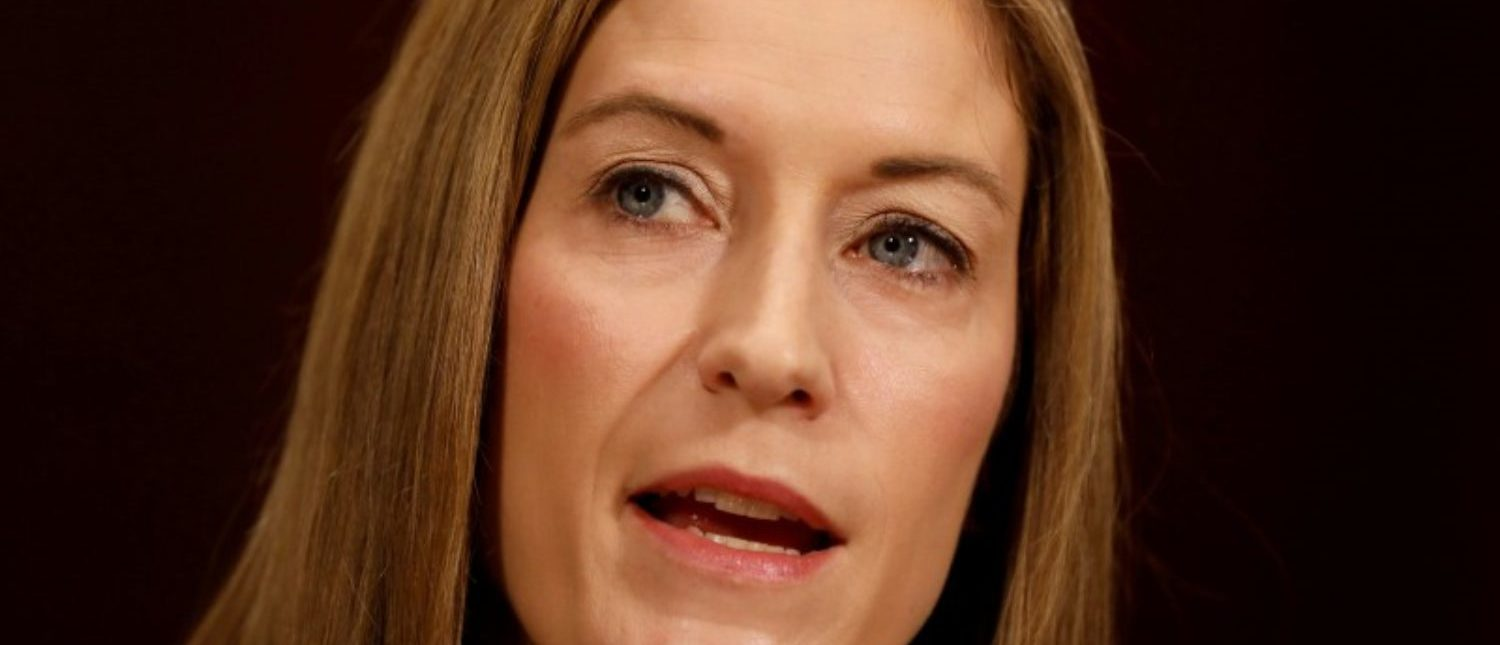 FILE PHOTO: Rachel Brand, nominee to be Associate Attorney General, testifies before the Senate Judiciary Committee on Capitol Hill in Washington March 7, 2017. REUTERS/Aaron P. Bernstein/Files