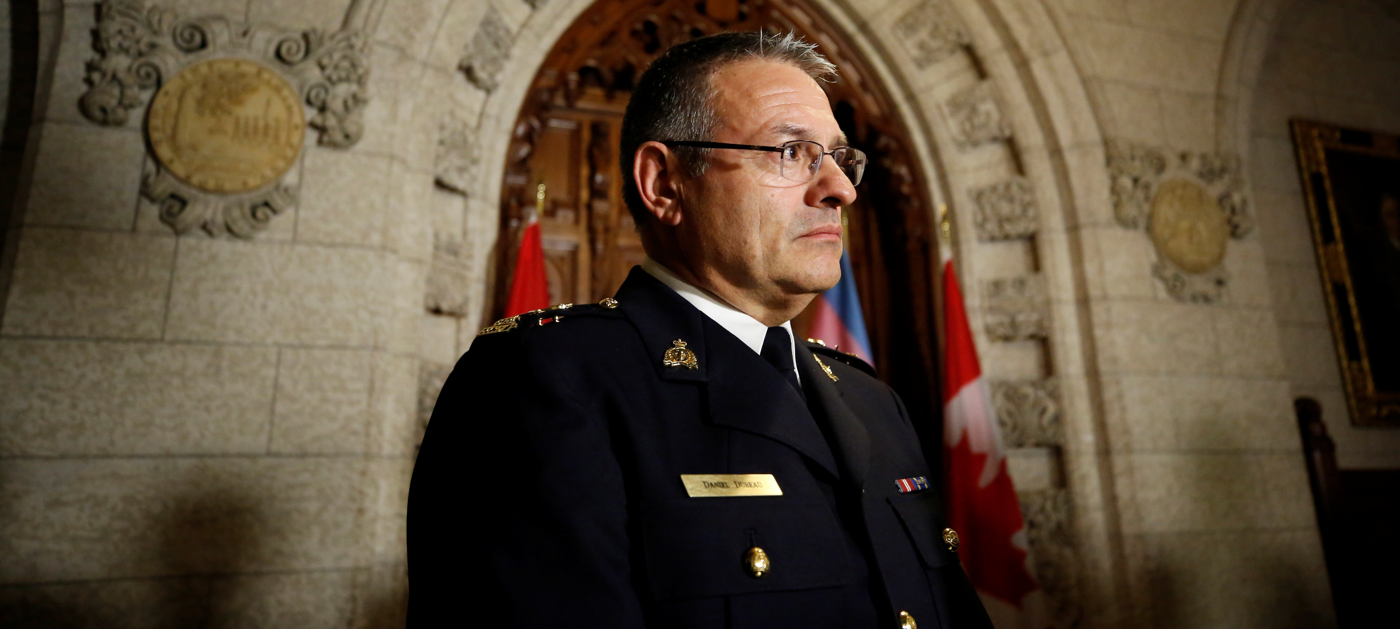 Acting Royal Canadian Mounted Police (RCMP) Commissioner Daniel Dubeau takes part in a news conference on Parliament Hill in Ottawa, Ontario, Canada, November 28, 2017. REUTERS/Chris Wattie