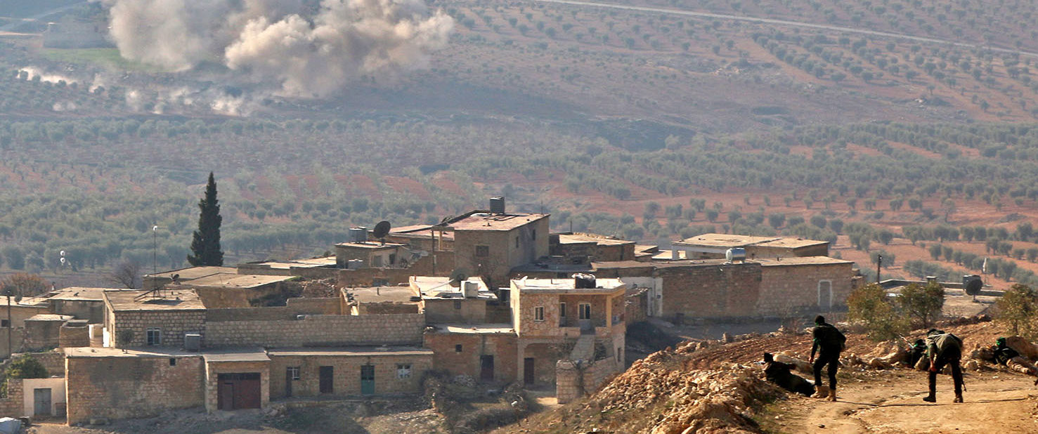 """Turkey launched operation """"Olive Branch"""" on January 20 against the Syrian Kurdish People's Protection Units (YPG) militia in Afrin, supporting Syrian opposition fighters with ground troops and air strikes. SALEH ABO GHALOUN/AFP/Getty Images"""