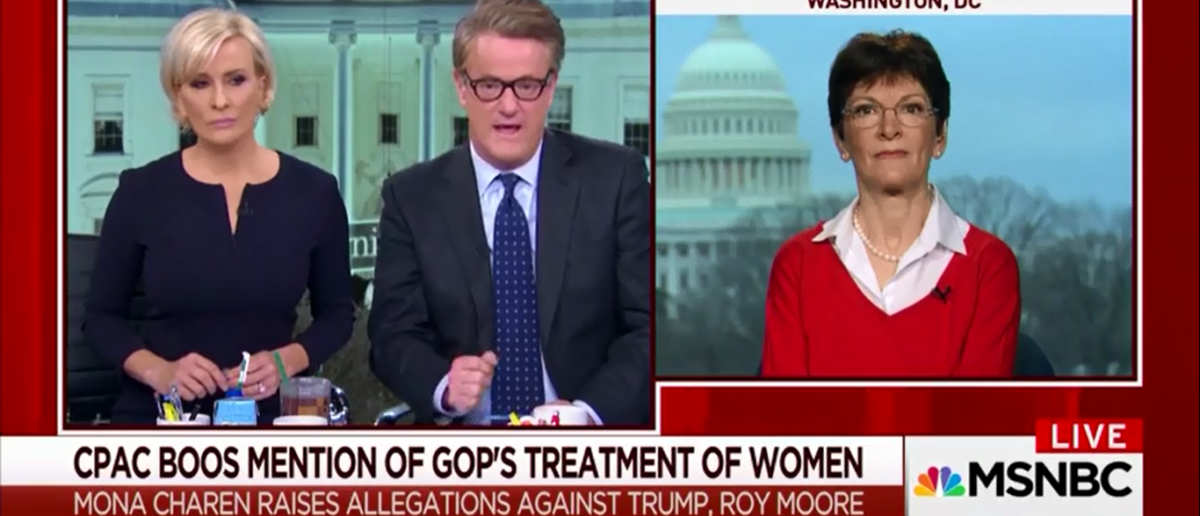After Being Booed At CPAC Mona Cheron Receives Warm Welcome From MSNBC And 'Morning Joe' - 2-26-18 (Screenshot/MSNBC)