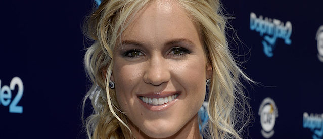 """LOS ANGELES, CA - SEPTEMBER 07: Cast member Bethany Hamilton attends the film premiere of Warner Bros. Pictures' and Alcon Entertainment's '""""Dolphin Tale 2"""" September 7, 2014 in Westwood section of Los Angeles, California. (Photo by Kevork Djansezian/Getty Images)"""