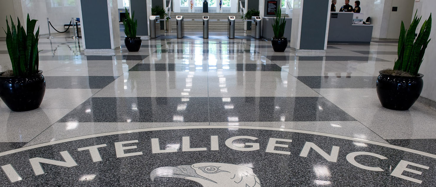 The Central Intelligence Agency (CIA) logo is displayed in the lobby of CIA Headquarters in Langley, Virginia, on August 14, 2008. SAUL LOEB/AFP/Getty Images