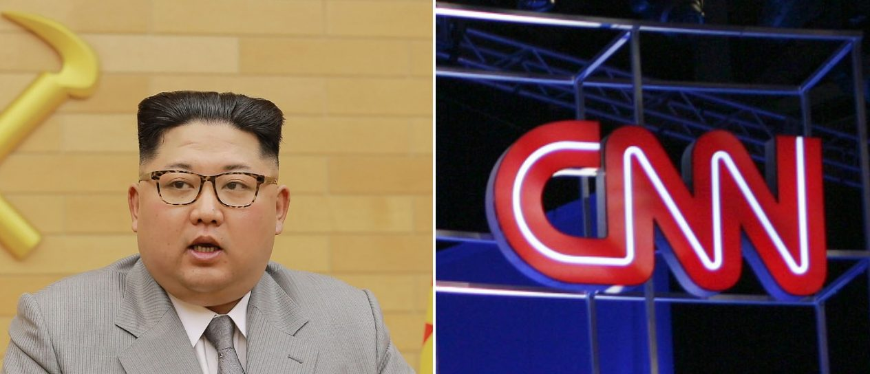 CNN logo North Korea Left: Photo credit should read Edward M. PIO RODA/AFP/Getty Images Right: AFP/Getty Images