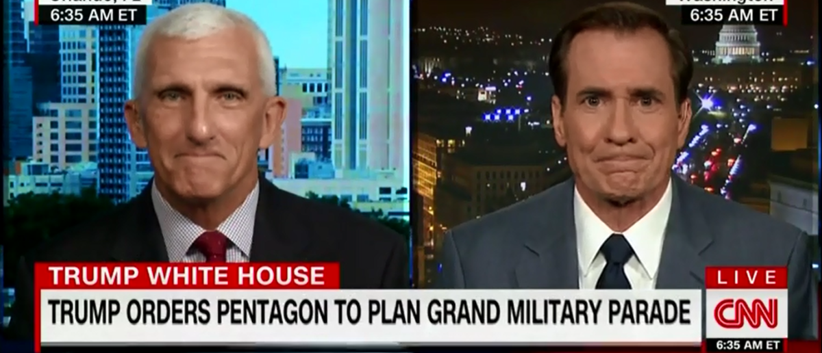 CNN's John Kirby Calls military parade a waste of time on New Day 2-7-18 (Screenshot/CNN)