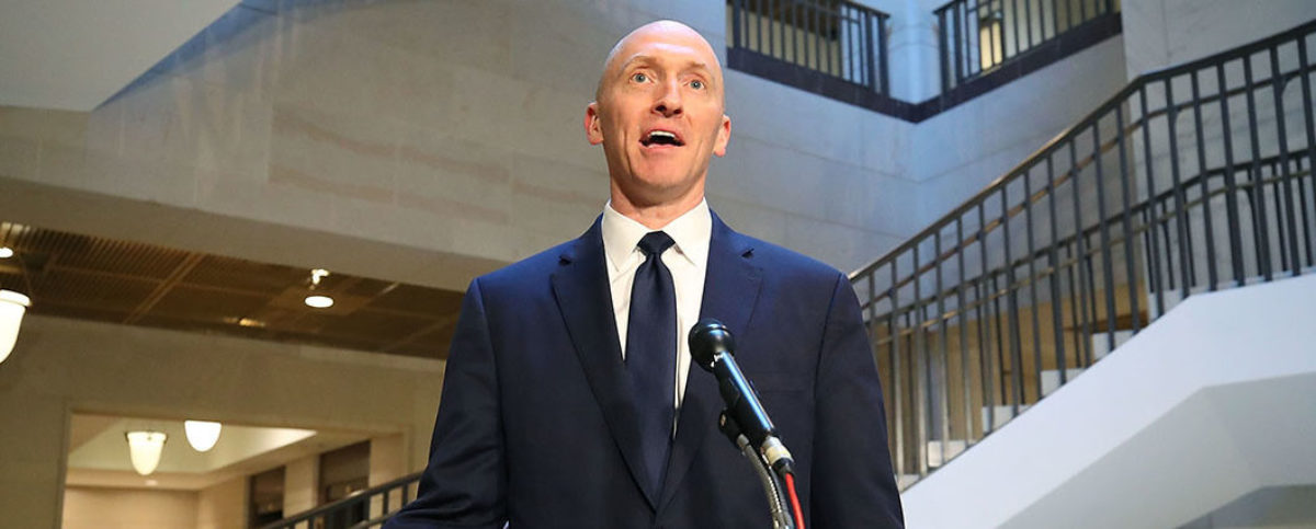 Carter Page, former foreign policy adviser for the Trump campaign, speaks to the media after testifying before the House Intelligence Committee on November 2, 2017 in Washington, D.C. (Photo by Mark Wilson/Getty Images)