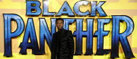 """Actor Chadwick Boseman arrives at the premiere of the new Marvel superhero film """"Black Panther"""" in London, February 8, 2018. REUTERS/Peter Nicholls"""