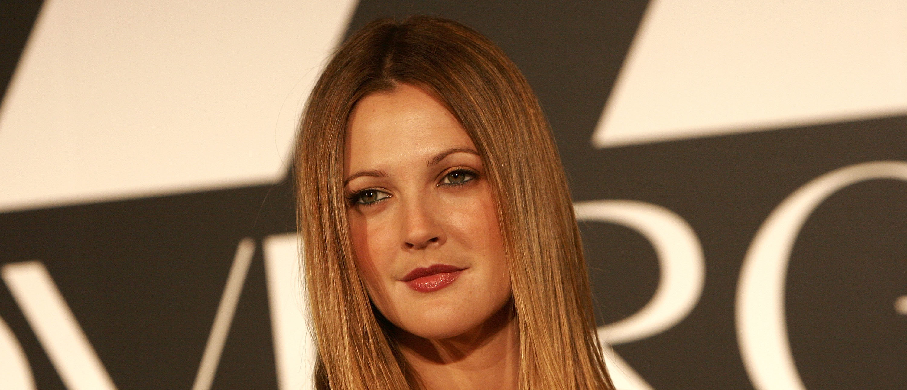 Drew Barrymore at her CoverGirl Cosmetics presentation in Los Angeles, California. (Photo credit: Charley Gallay/Getty Images)