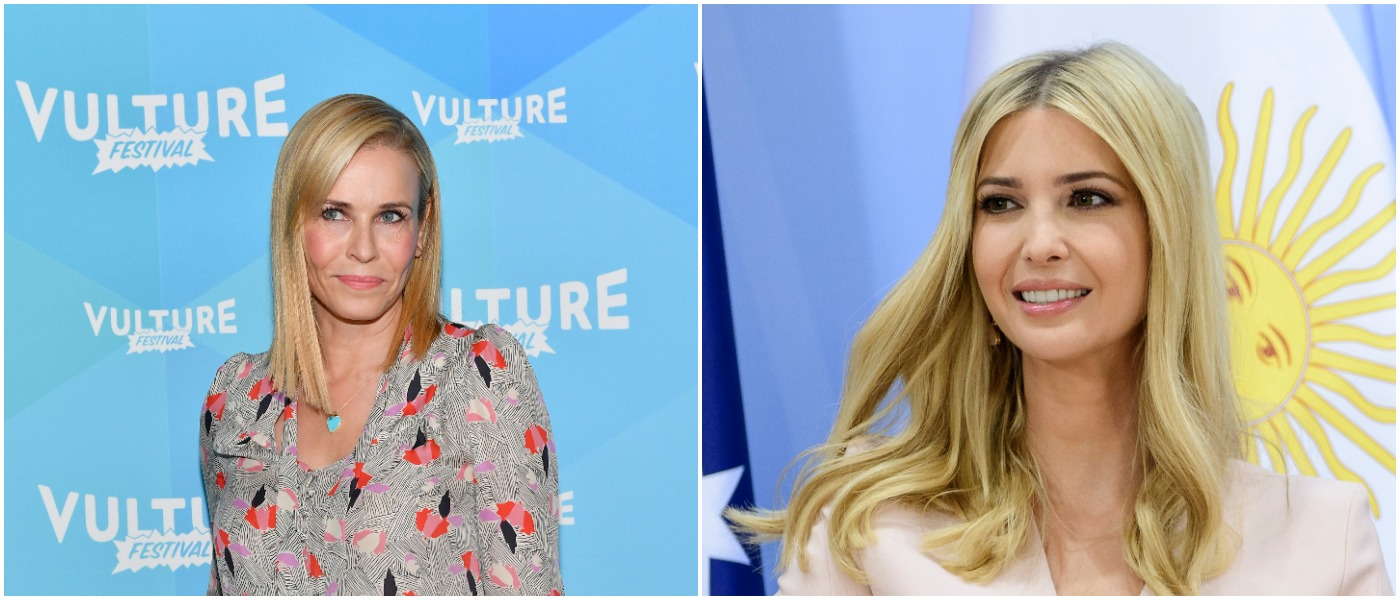 Chelsea Handler Ivanka Left: Photo by Dia Dipasupil/Getty Images for Vulture Festival Right: Photo by Ukas Michael - Pool/Getty Images