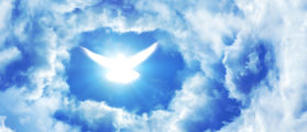 The clouds open with a dove. (Shutterstock)