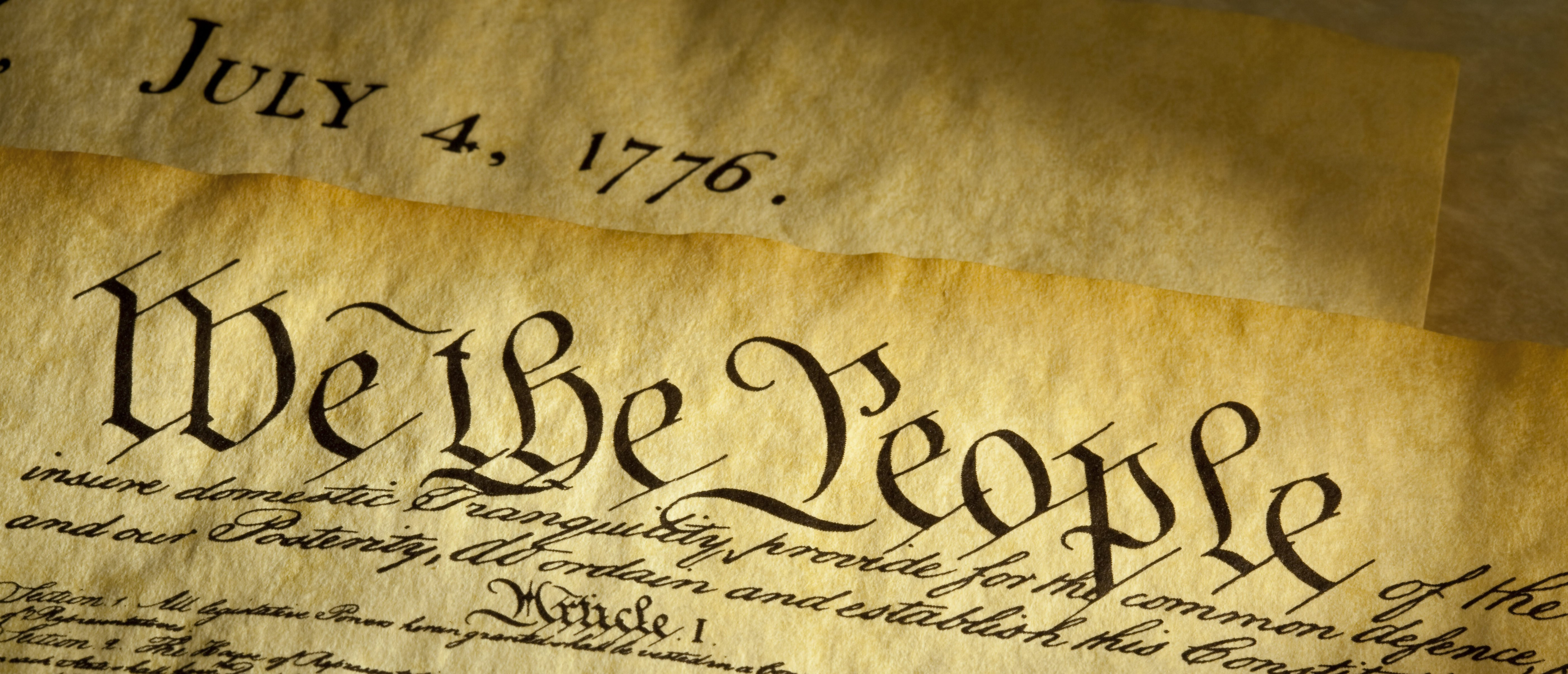 The American Constitution. Shutterstock.