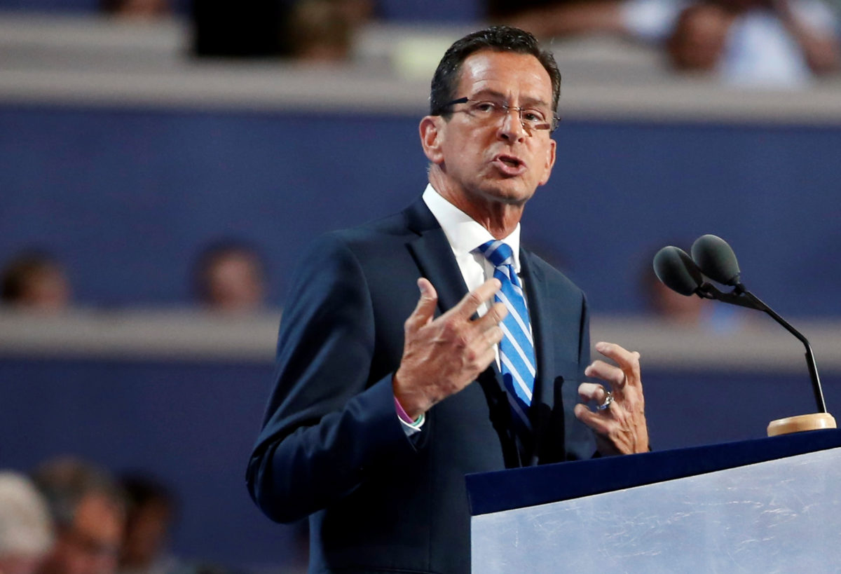Connecticut Governor Dannel Malloy speaks at the Democratic National Convention in Philadelphia, Pennsylvania, U.S. July 25, 2016. REUTERS/Lucy Nicholson