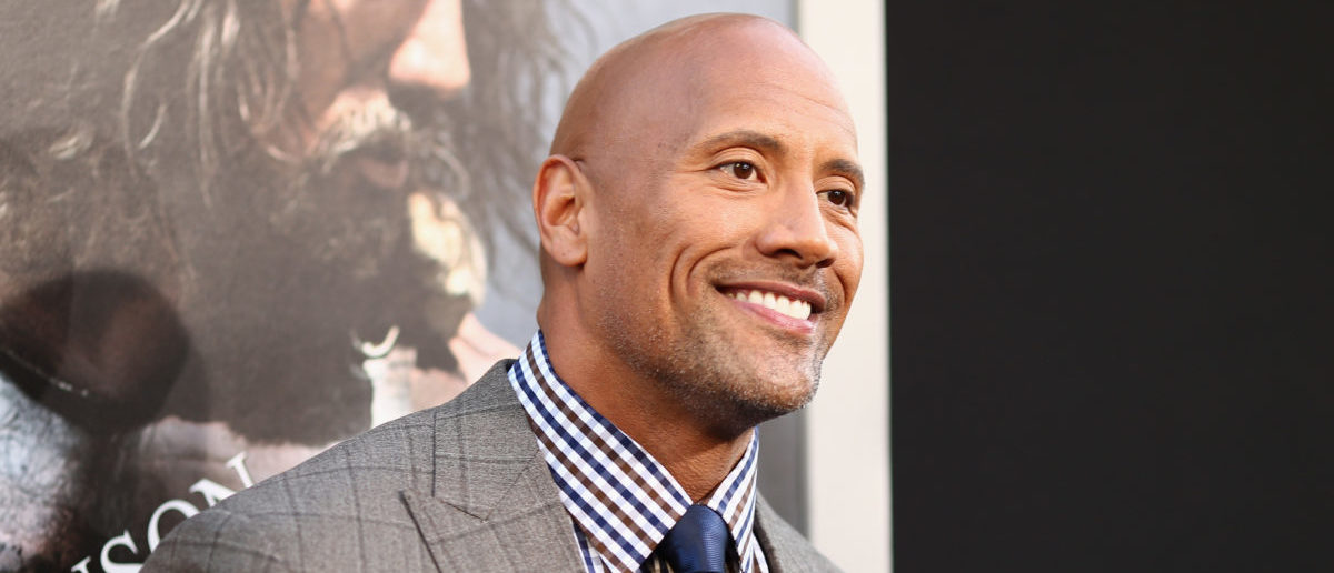 HOLLYWOOD, CA - JULY 23:  Actor Dwayne Johnson attends the premiere of Paramount Pictures' ?HERCULES? at  TCL Chinese Theatre on July 23, 2014 in Hollywood, California.  (Photo by Christopher Polk/Getty Images for Paramount Pictures')