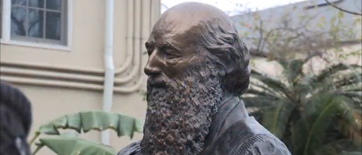 Pictured is another statue of Gen. Edmund Kirby Smith at the St. Augustine Historical Society in Florida. (Photo Credit: YouTube/Bruce Merwin)