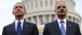 Eric Holder and Barack Obana Getty Images/Olivier Douliery