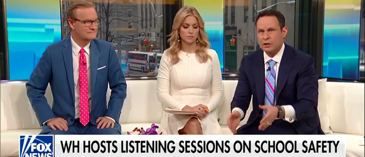 'Fox & Friends' Bashes Media For Attacking Trump's Meeting With Shooting Victims 2-22-18 (Screenshot/Fox News)