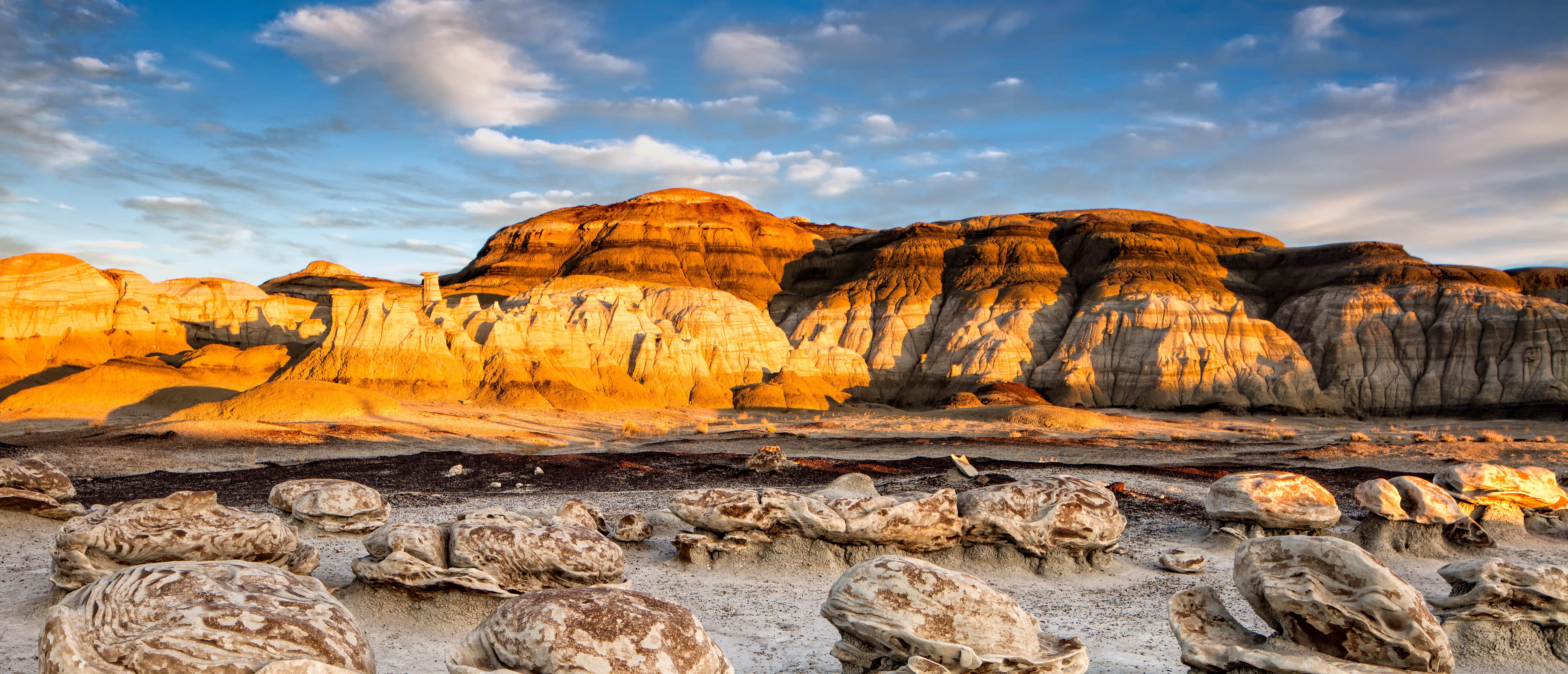 Golden sunrise over Bandelier National Monument, NM (Shutterstock/Erik Harrison)